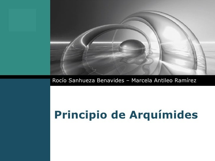 Principio de Arquímides Rocío Sanhueza Benavides – Marcela Antileo Ramírez