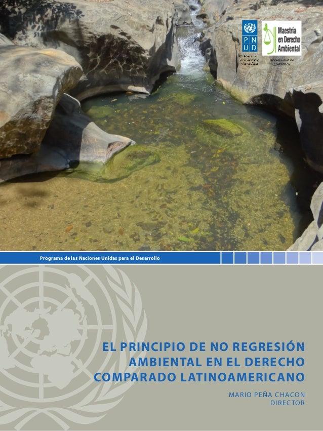 Universidad de Costa Rica  Programa de las Naciones Unidas para el Desarrollo  El principio de no regresión ambiental en e...