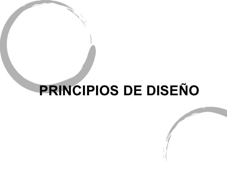 Principios del diseño