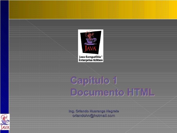 Ing. Orlando Huaranga Negrete [email_address]