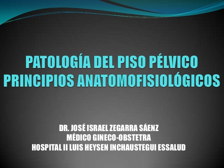 DR. JOSÉ ISRAEL ZEGARRA SÁENZ          MÉDICO GINECO-OBSTETRAHOSPITAL II LUIS HEYSEN INCHAUSTEGUI ESSALUD
