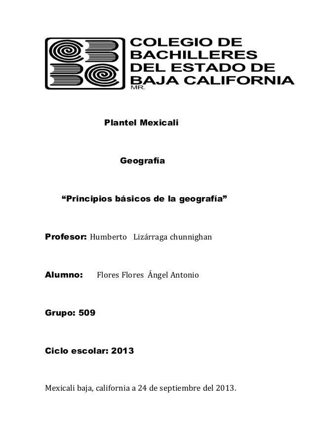 Principios basicos de la geografia