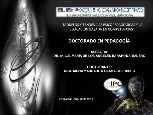 DOCTORADO EN PEDAGOGÍA ASESORA: DR. en C.E. MARÍA DE LOS ÁNGELES BARAHONA MADERO DOCTORANTE: MED. NILVIA MARGARITA LIZAMA ...