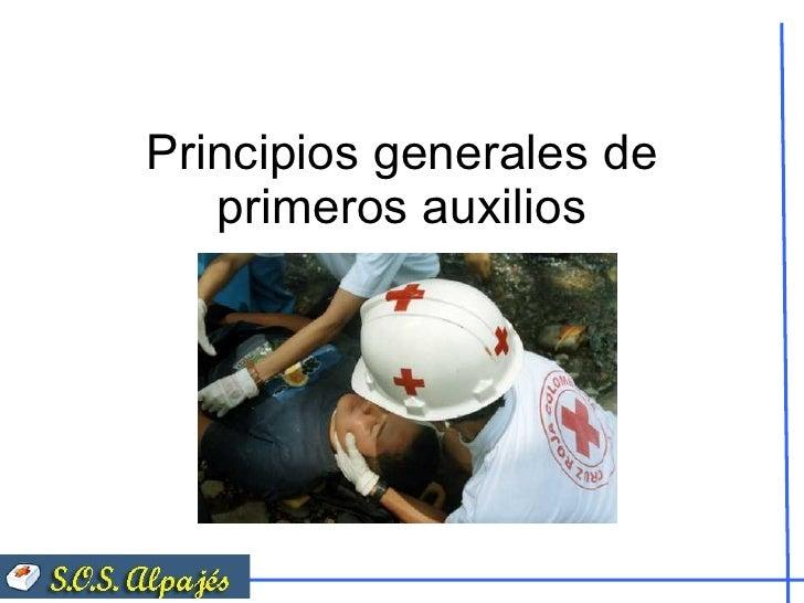 Principios generales de primeros auxilios