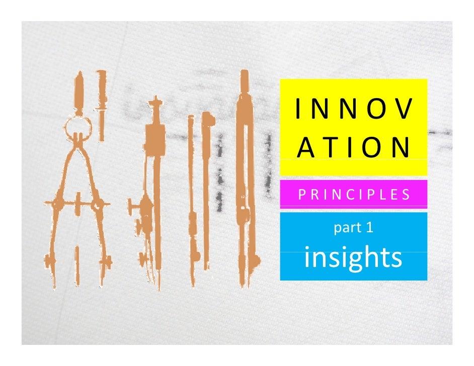 Innovation Principles (part 1 - insights)