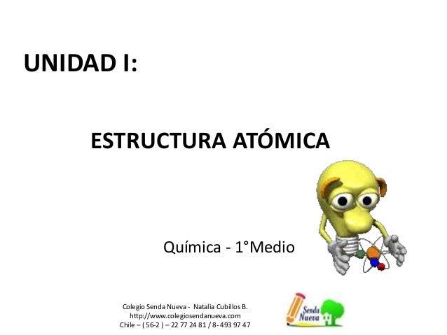 UNIDAD I: Colegio Senda Nueva - Natalia Cubillos B. http://www.colegiosendanueva.com Chile – ( 56-2 ) – 22 77 24 81 / 8- 4...