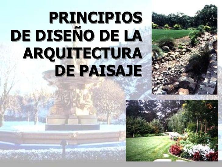 Principios de dise o de la arquitectura de paisaje - Arquitectura de diseno ...