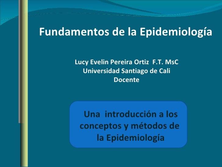 Principios de epidemiologia clase i