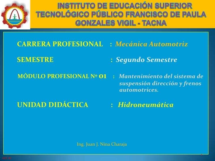 INSTITUTO DE EDUCACIÓN SUPERIOR TECNOLÓGICO PÚBLICO FRANCISCO DE PAULA GONZALES VIGIL - TACNA<br />        CARRERA PRO...