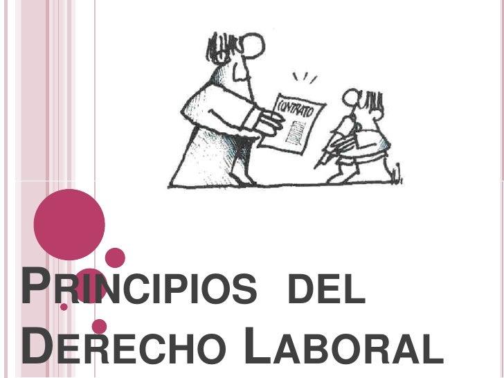 Principios del derecho laboral: www.slideshare.net/luciagonzalez1989/principios-del-derecho-laboral