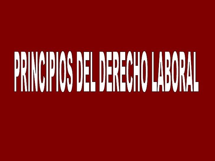 Principios del derecho laboral   completo