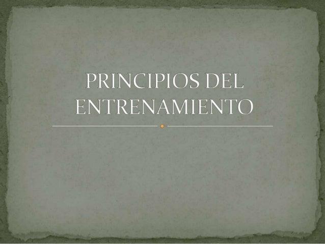 Son guías y reglas que sistemáticamente dirigen el proceso global de entrenamiento. Se relacionan entre sí y garantizan la...