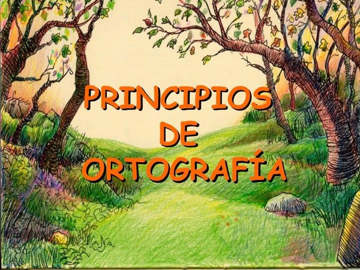 PRINCIPIOS    DEORTOGRAFÍA
