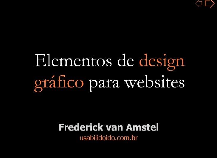 Elementos de design gráfico para websites