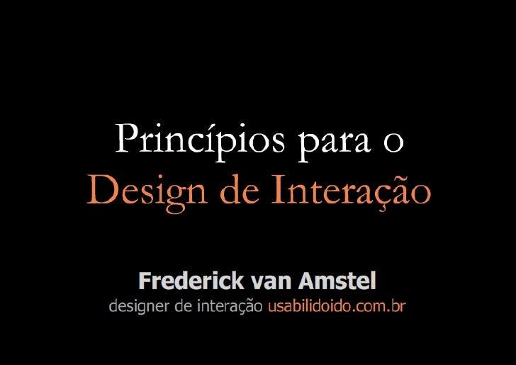 Princípios de Design de Interação