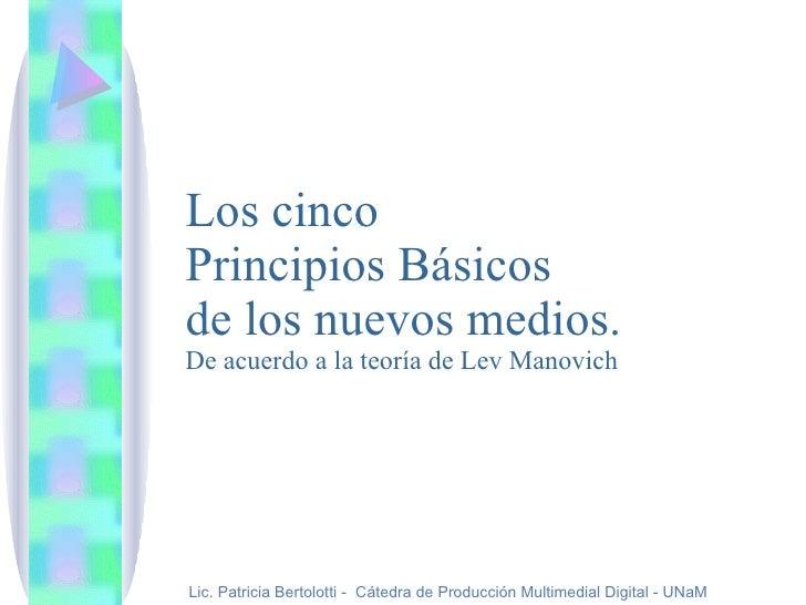 Principios Manovich