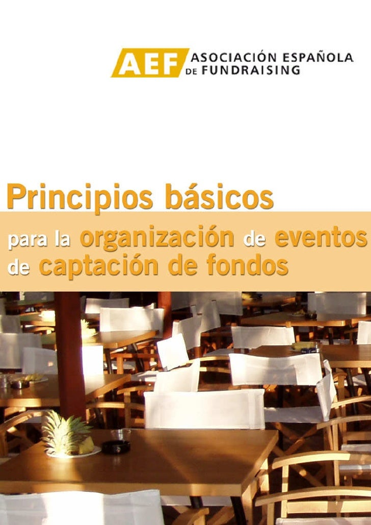 Principios básicos para la organización                                                                          de evento...