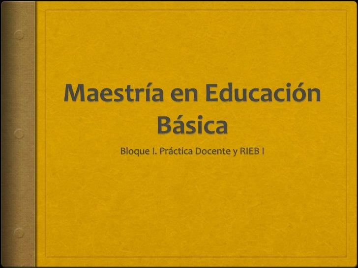 Principios pedagógicos de la RIEB 2011