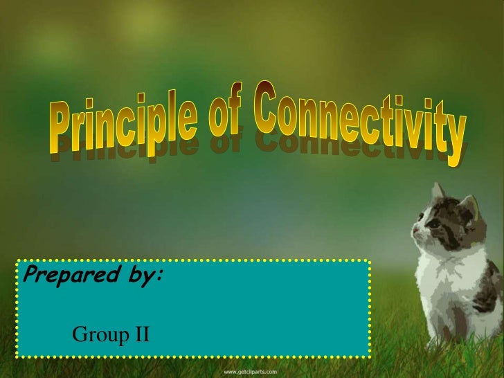 Principle of connectivity