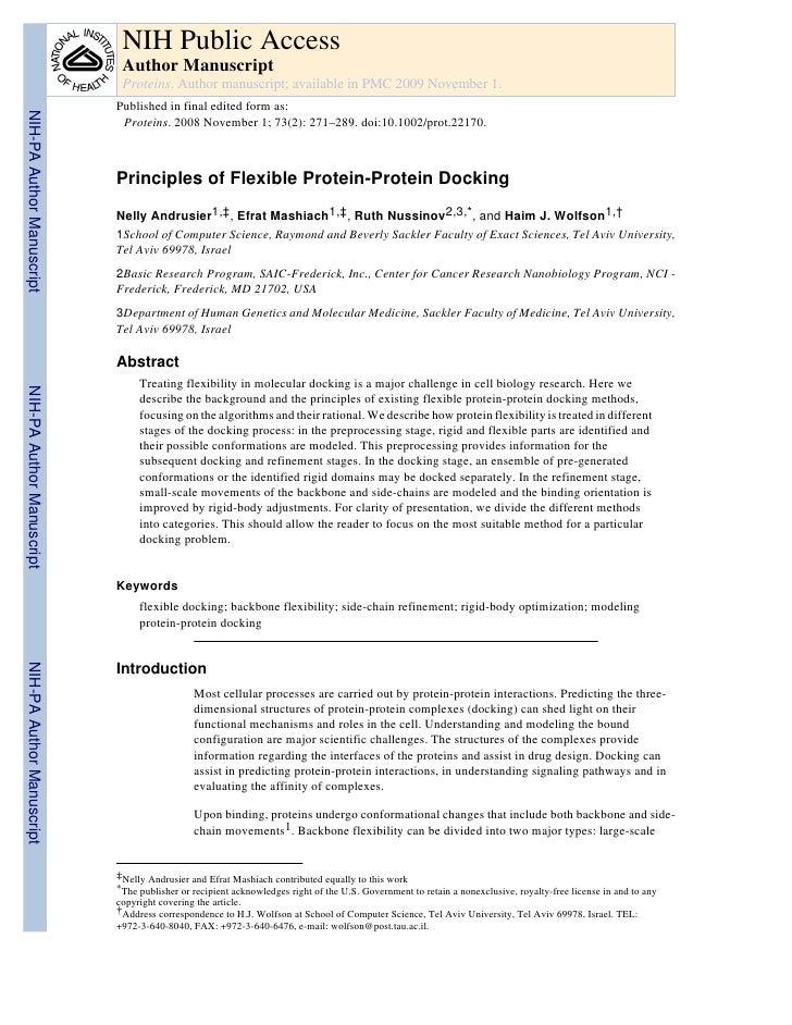 Principle of flexible docking