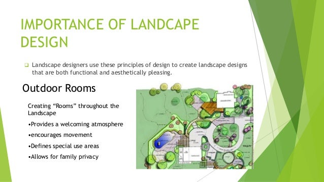 Principle of landscape design Definition landscape and design