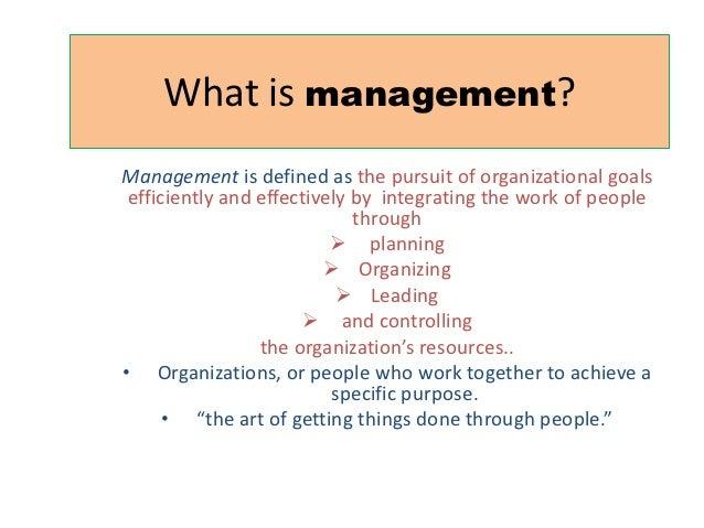 Principle of management ch 1
