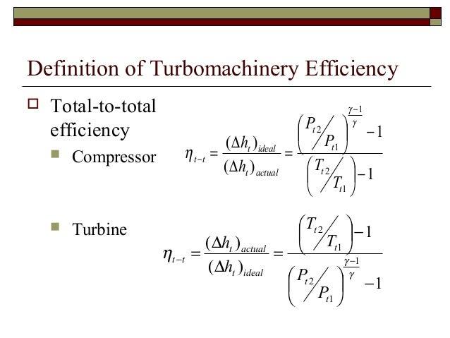 Principle of turbomachinery