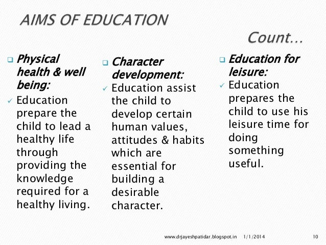 essay on education and character development