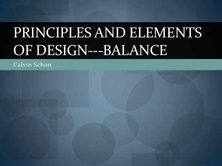 Principles Of Design Balance : Principles and elements of design balance