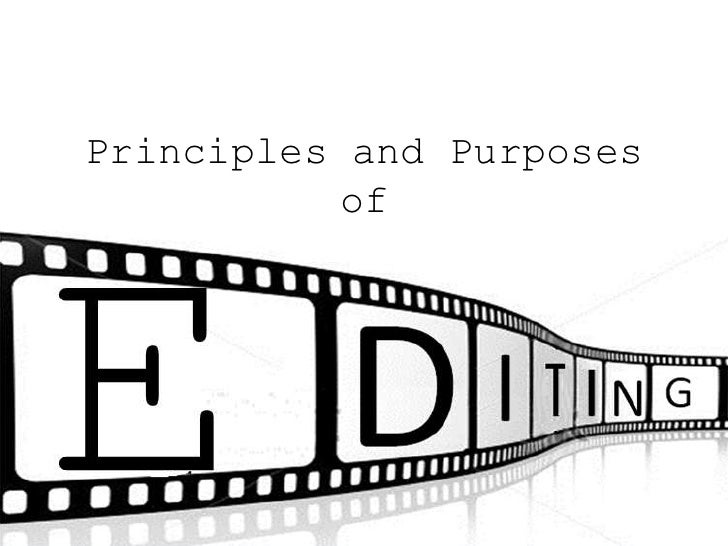 Principles and Purposes          of