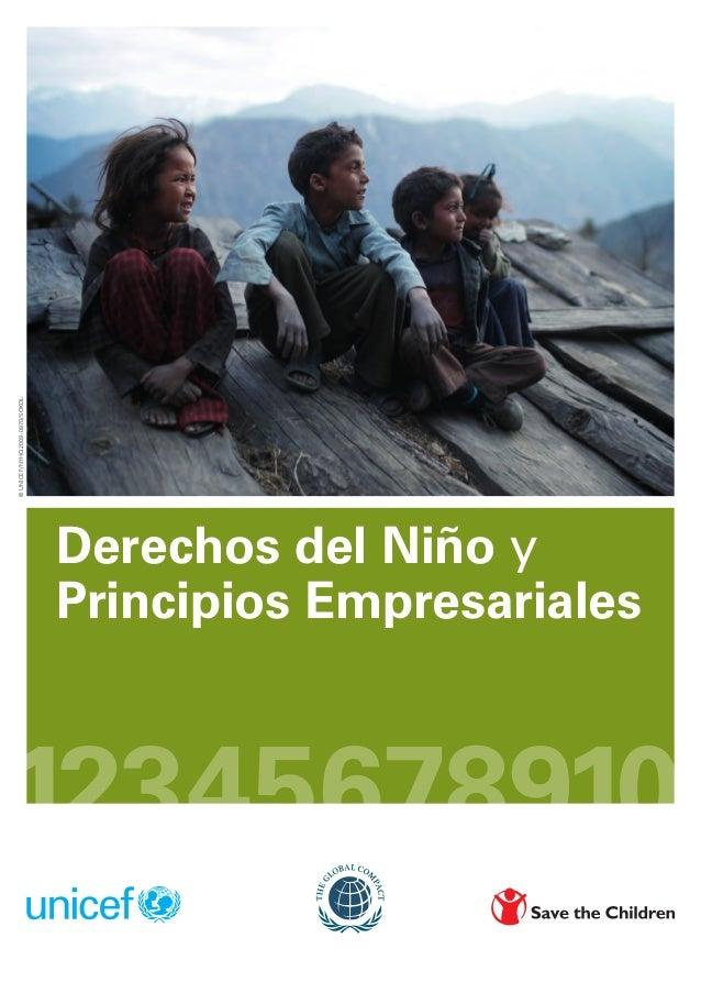 © UNICEF/NYHQ2009-0870/SOKOL                               Derechos del Niño y                               Principios Em...