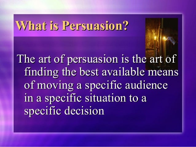 effective persuasion There are many different ways to persuade people to your way of thinking  politicians, writers, and advertising companies use multiple techniques to get the .