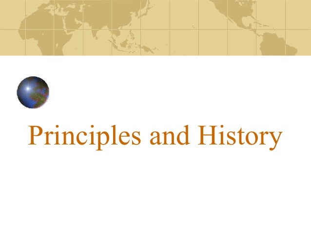 Principles & History of SED