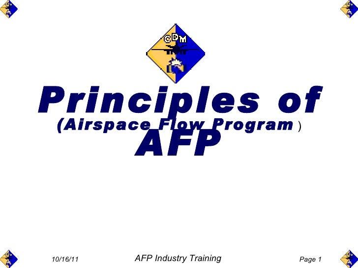Principles of AFP (Airspace Flow Program  )