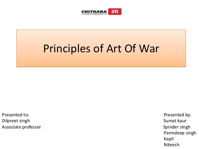 Art S Principles : Principle s of art war with corporate examples