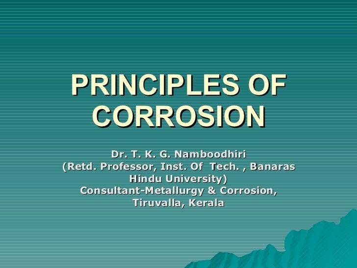 Principles of corrosion