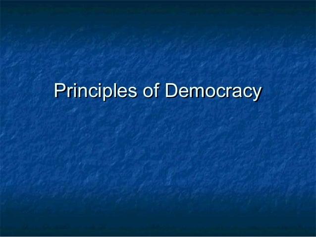 Principles of Democracy