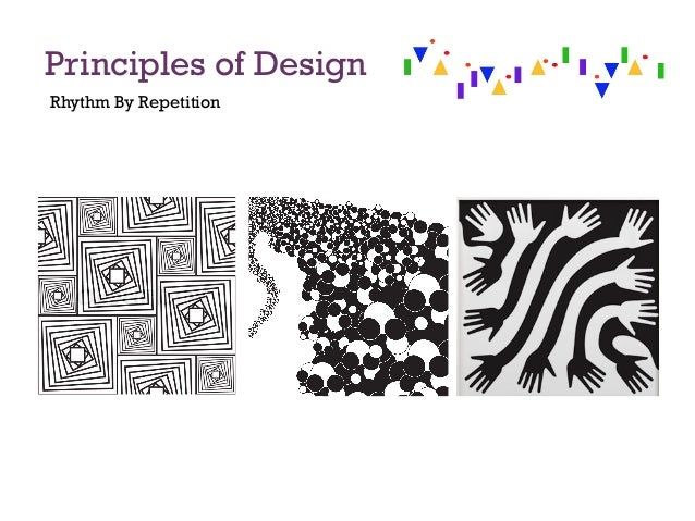 Principles of design for Rhythm by transition