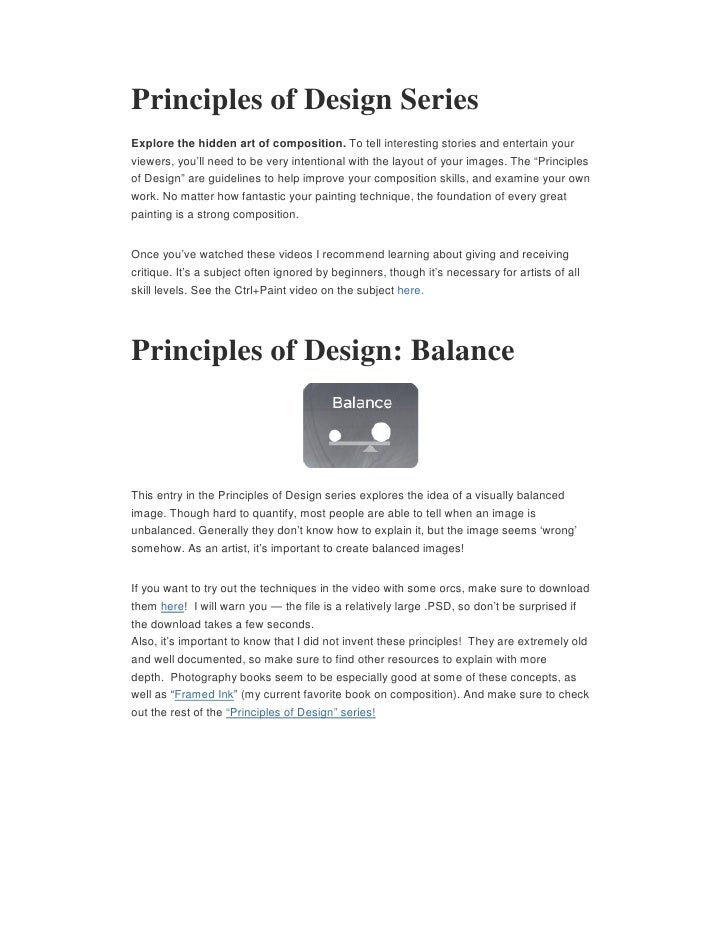 Principles of Design SeriesExplore the hidden art of composition. To tell interesting stories and entertain yourviewers, y...