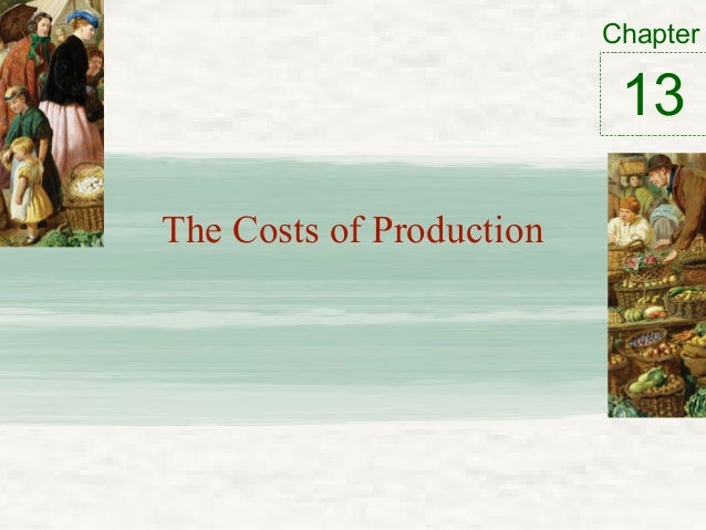 Chapter The Costs of Production 13