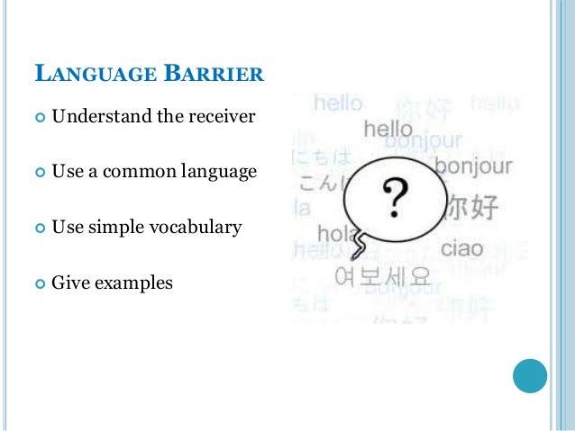 Language barrier essay
