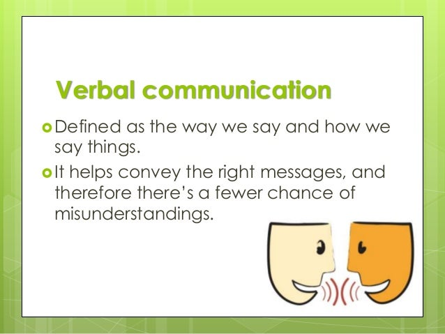 Verbal Communication Powerpoint Verbal Communication