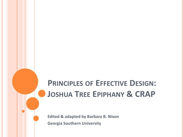 Principles Of Effective Design