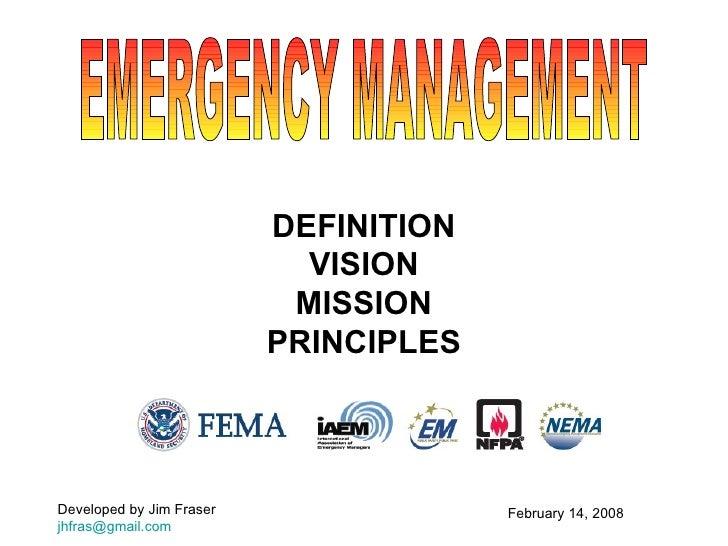 Principles of Emergency Management slides