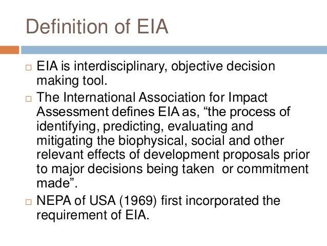 Environmental Impact Assessment Essay Sample