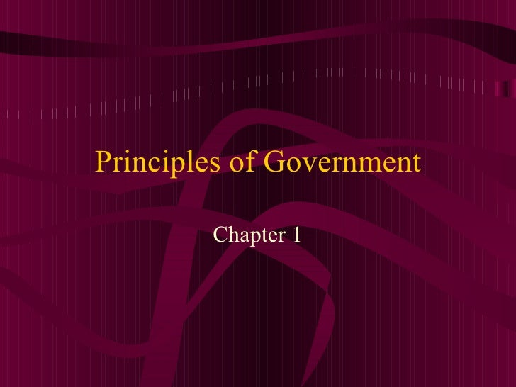 Principles of government 1