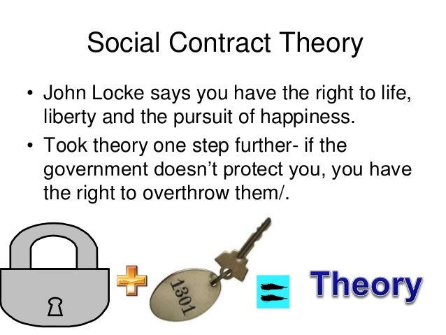 social sontract theory of john locke An analysis of john locke and thomas hobbes' social this permission is allowed because of locke's notion of the social contract as theory and the american.