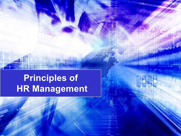 Principles Of Hr Mgt