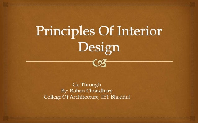 go throughby rohan choudharycollege of architecture iet bhaddal