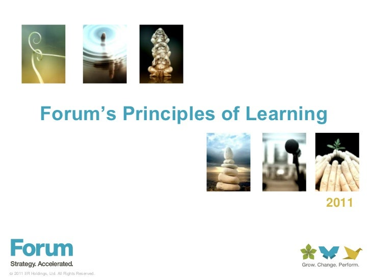 Forum's Principles of Learning<br />2011<br />